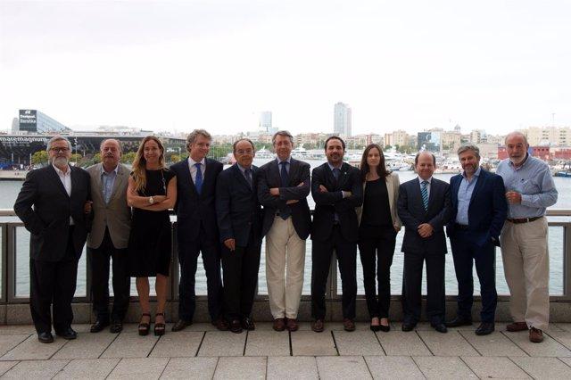 La nueva Junta de Gobierno de Rete en el Puerto de Barcelona