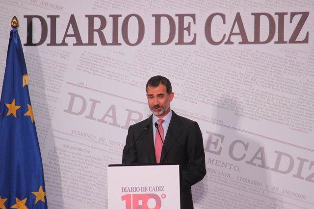 El Rey Felipe VI en el aniversario de Diario de Cádiz