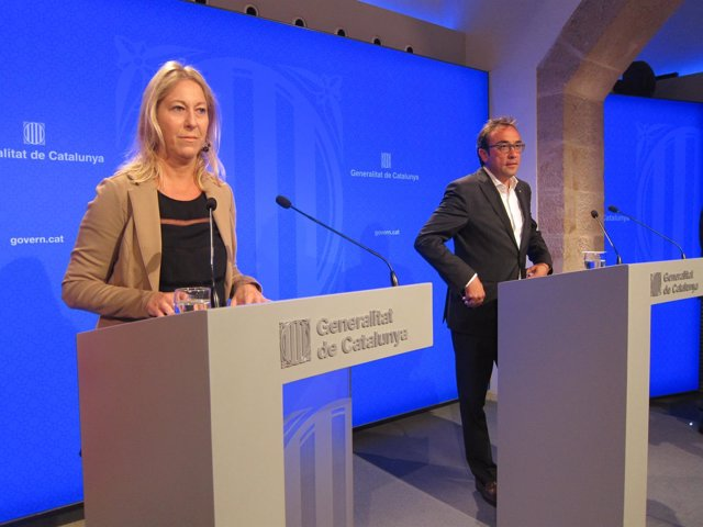 Consellers Neus Munté, Josep Rull