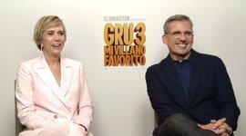"""Steve Carell y Kristen Wiig presentan Gru 3: """"Los españoles tienen suerte; su doblaje es mucho mejor que el nuestro"""""""