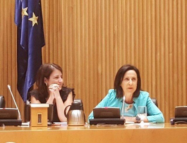 Adriana Lastra y Margarita Robles