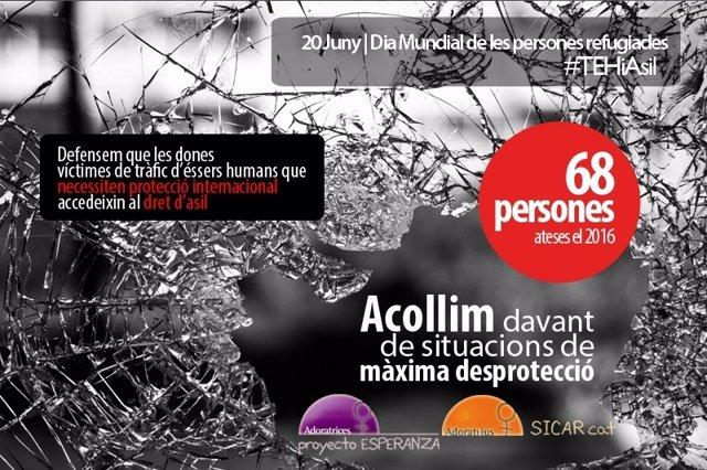Cartel de Adoratrices por el Día Mundial del Refugiado