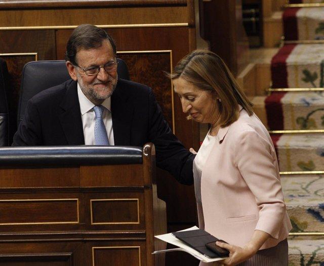 Mariano Rajoy y Ana Pastor, en el hemiciclo