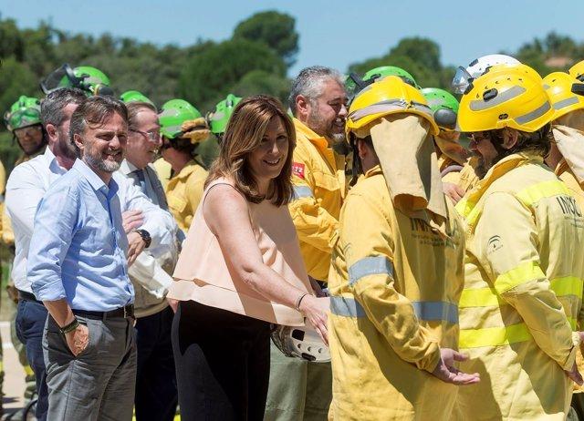 La presidenta de la Junta, Susana Díaz, presenta el Plan Infoca para 2017