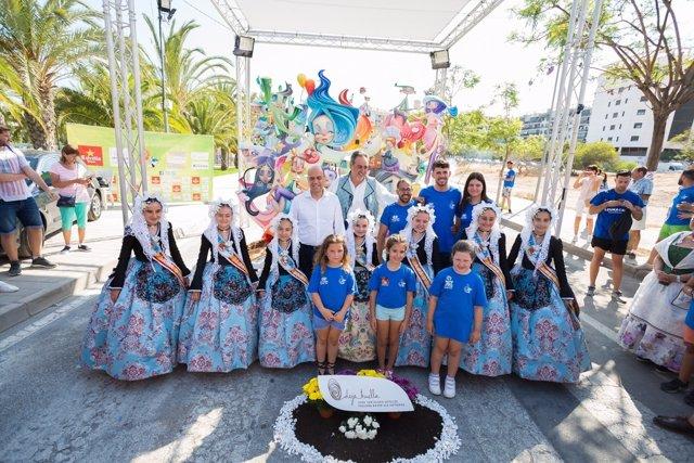 La foguera infantil Baver-Els Antigons, ganadora en Sección Especial en 2017