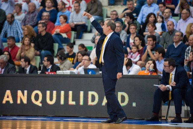 Txus Vidorreta en el partido UCAM Murcia - Iberostar Tenerife