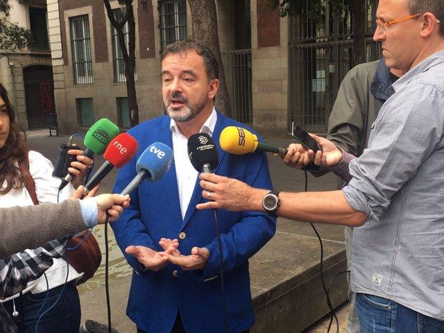 Alfred Bosch (ERC) atiende a los medios