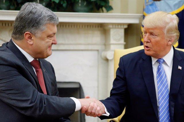 Petro Poroshenko y Donald Trump