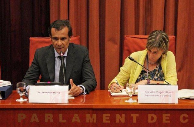 El director de Método 3 Francisco Marco en el Parlament