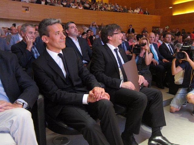 El pte.C.Puigdemont en el acto 'Els empresaris volem saber'