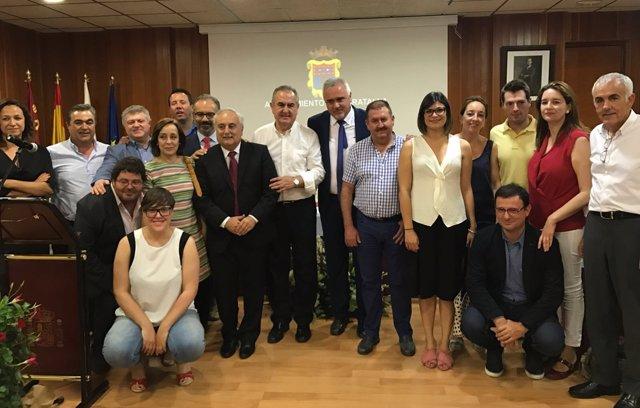 Foto de familia PSOE con nuevo alcalde de Moratalla