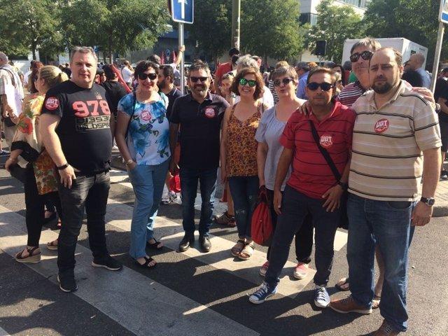 Delegación de UGT en manifestación apoyo 29M