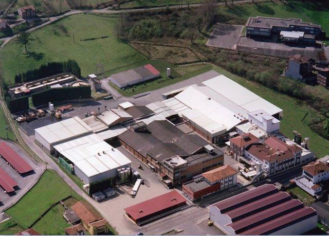 Fábrica de Nestlé en Sebares (Asturias)