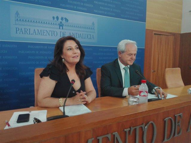 Carmen Crespo y José Antonio Miranda, hoy ante los medios