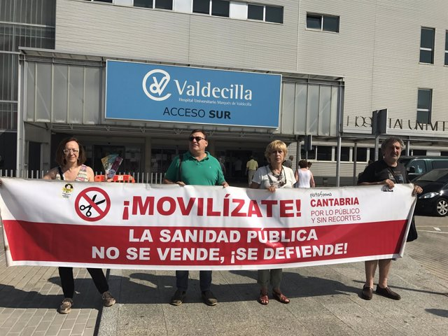 Presentación de la nueva campaña de Cantabria por lo Público y sin Recortes