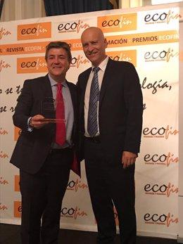 Recogida del premio 'Titanes de las finanzas 2017'