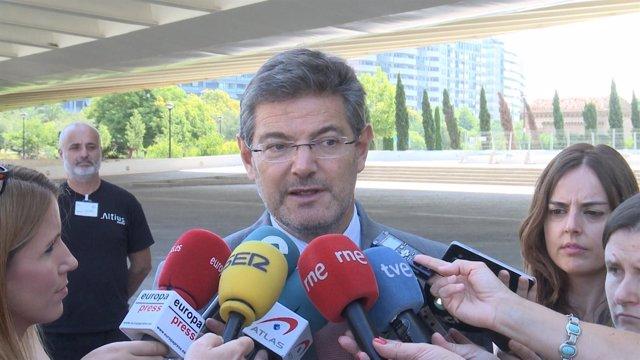 Rafael Catalá, tras la reunión del GAFI en València