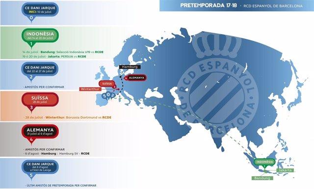 Gira del RCD Espanyol pretemporada 2017/18
