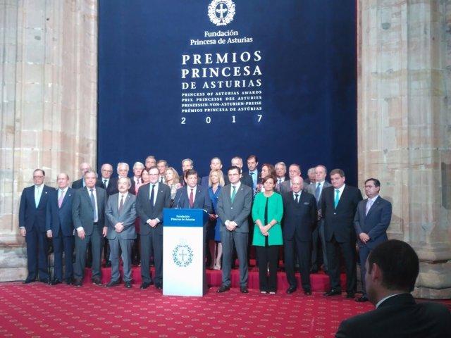 Jurado de los Premios Princesa de Asturias de la Concordia 2017