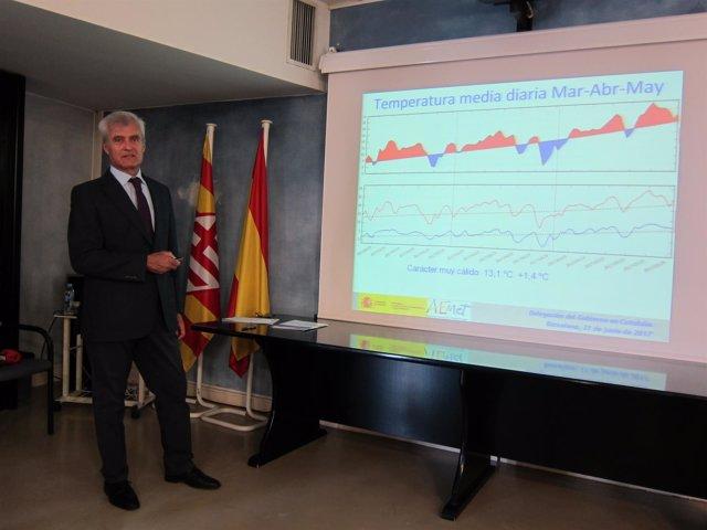 El delegado territorial en Catalunya de la Agencia Estatal de Meteorología