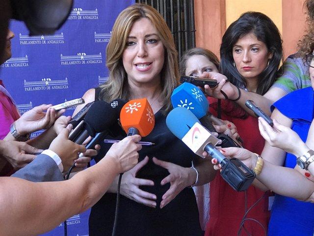 La presidenta de la Junta, Susana Díaz, en el XXXV Aniversario del Parlamento