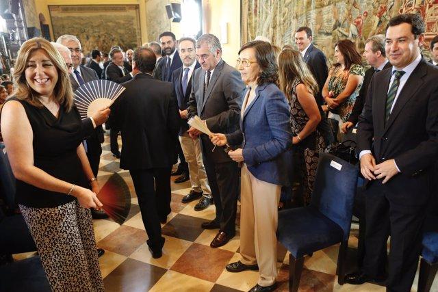 Susana Díaz y Juanma Moreno, en el Pleno Institucional de la Cámara