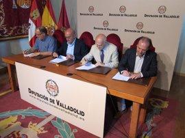 Diputación de Valladolid renueva su colaboración con Cáritas, Cruz Roja y Banco de Alimentos contra la exclusión social