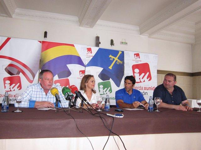 Faustino Sabio, Angela Vallina, Miguel Viegas (Eurodiputado Del Partido Comunist