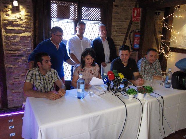 Segovia, Rueda De Prensa De Los Ex Miembros De Cs