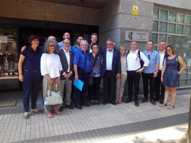 ERC, Unidos Podemos, Compromís y PDeCAT en el Tribunal de Cuentas