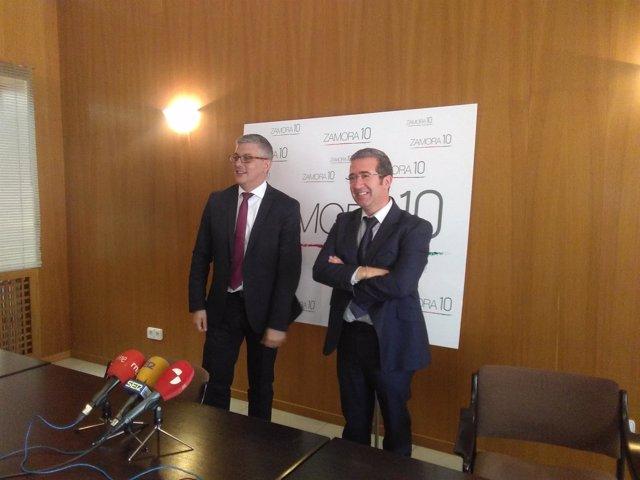 Zamora: Javier Díaz (I) y Ángel Hernández