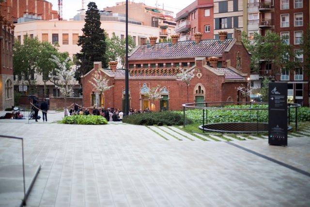 Seu del projecte Barcelona Intl.Policy Sector en el recinte de Sant Pau