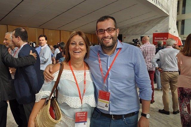 El ex senador Ibán García, junto con Teresa López Viejo