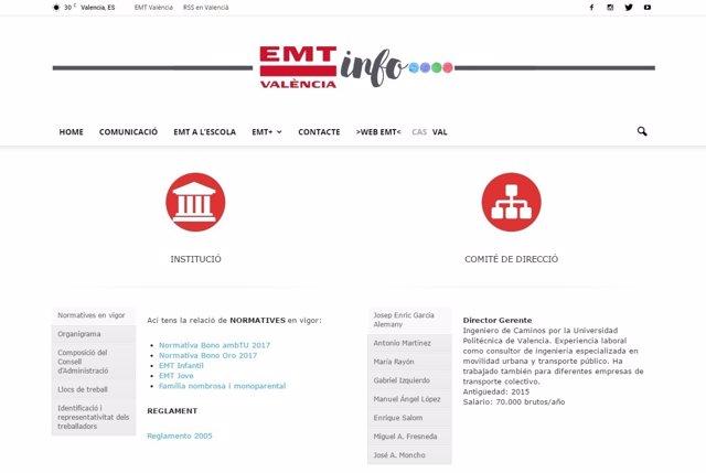 Portal de transparencia de la EMT