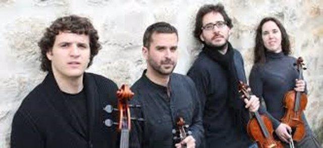 Música Cuarteto Granada actúa en sala maría cristina fundación unicaja