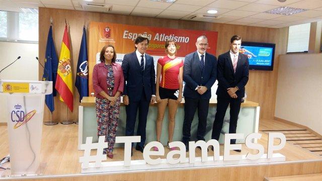 Mayte Pérez en la presentación de la Copa de Europa de Atletismo en Monzón