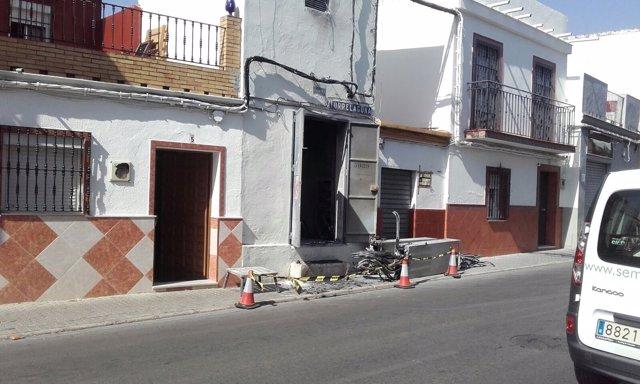 Lugar del incendio de Torreblanca.