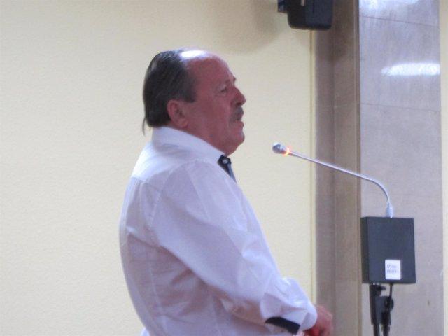 El acusado durante su declaración ante el tribunal