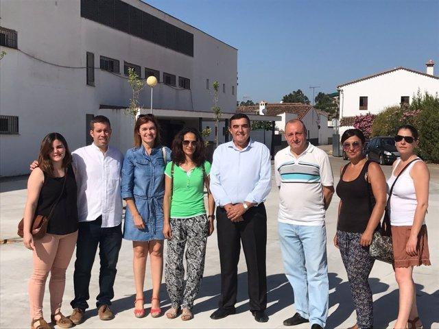 Visita al colegio de Higuera de la Sierra.