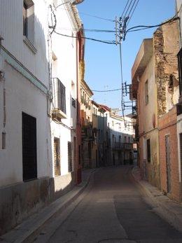 Una calle de la localidad de Grisén (Zaragoza)