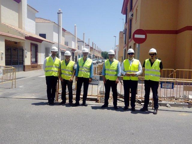 Visita a las obras  de Gas Natural en Los Palacios y Villafranca