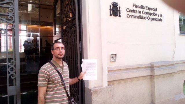 Carlos González (Comú de Lleida) ante la Fiscalía Especial contra la Corrupción