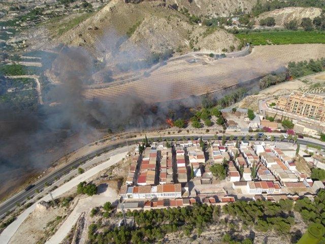 Imagen De La Zona Incendiada