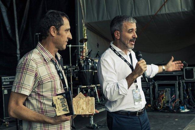 El presidente de APM, Albert Salmeron, y el del Icub, Jaume Collboni