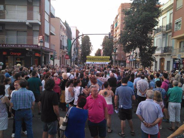 Manifestación en el Cabanyal