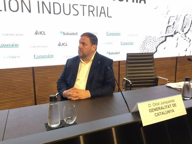 El vicepresidente del Govern y conseller de Economía, Oriol Junqueras
