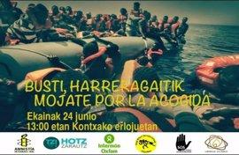 ONGs se mojan este sábado en la playa de La Concha por la acogida de refugiados