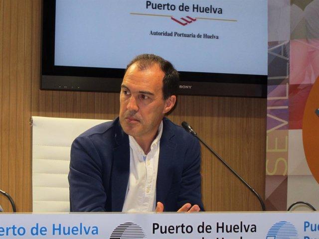 El gerente provincial de la Agencia IDEA en Huelva, Miguel Ángel Mejías.