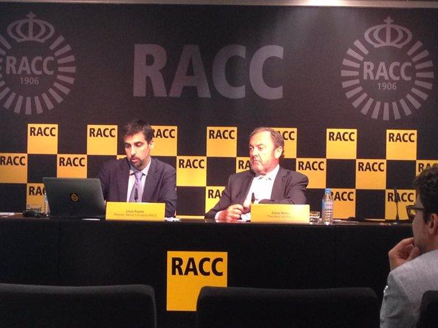 El presidente del Racc J.Mateu y el dtor.Técnico F. Racc L.Puerto