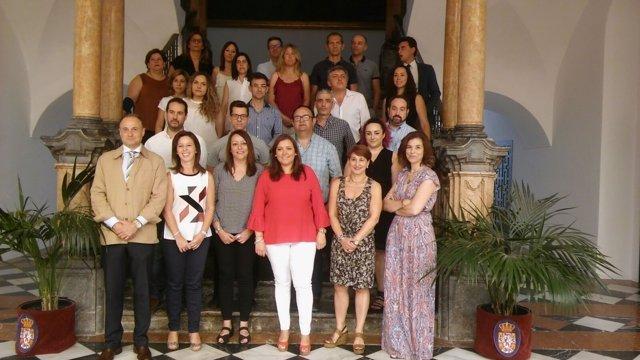Carrillo, junto a los participantes, en la clausura del curso